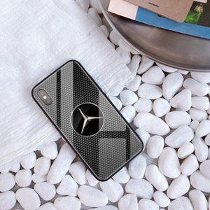 Broshop Phone Case MB / Iphone 6/6S {NEW!} iPhone Tempered Glass Carbon Fiber Case