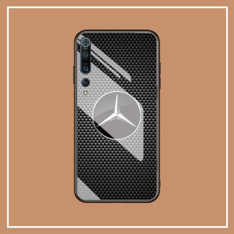 Broshop Phone Case MB / Xiaomi 10 Xiaomi Tempered Glass Case AUDI/BENTLEY/MASERATI