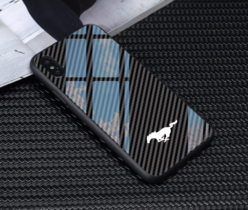 Broshop Phone Case Mustang / Huawei Mate 20 Huawei Tempered Glass Carbon Fiber Case