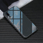 Broshop Phone Case No Logo / Huawei Mate 20 Huawei Tempered Glass Carbon Fiber Case