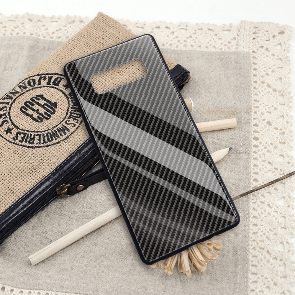 Broshop Phone Case No Logo / Samsung Galaxy A10 A SERIES Samsung Tempered Glass Carbon Fiber Case
