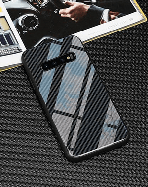 Broshop Phone Case No Logo / Samsung Galaxy S8 Samsung Tempered Glass Carbon Fiber Case
