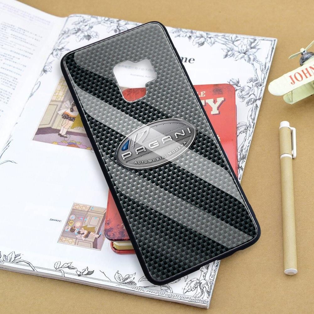 Broshop Phone Case Pagani / Samsung Galaxy A10 A SERIES Samsung Tempered Glass Carbon Fiber Case
