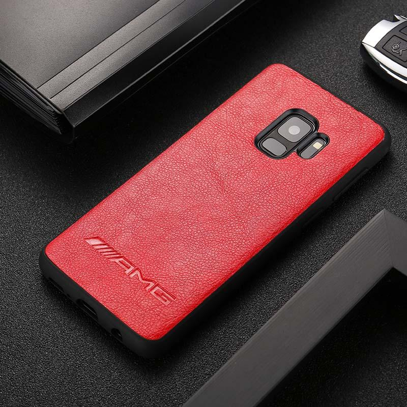 BroShop Phone Case Red AMG / Samsung Galaxy S8 AMG PU Faux Leather Samsung Case
