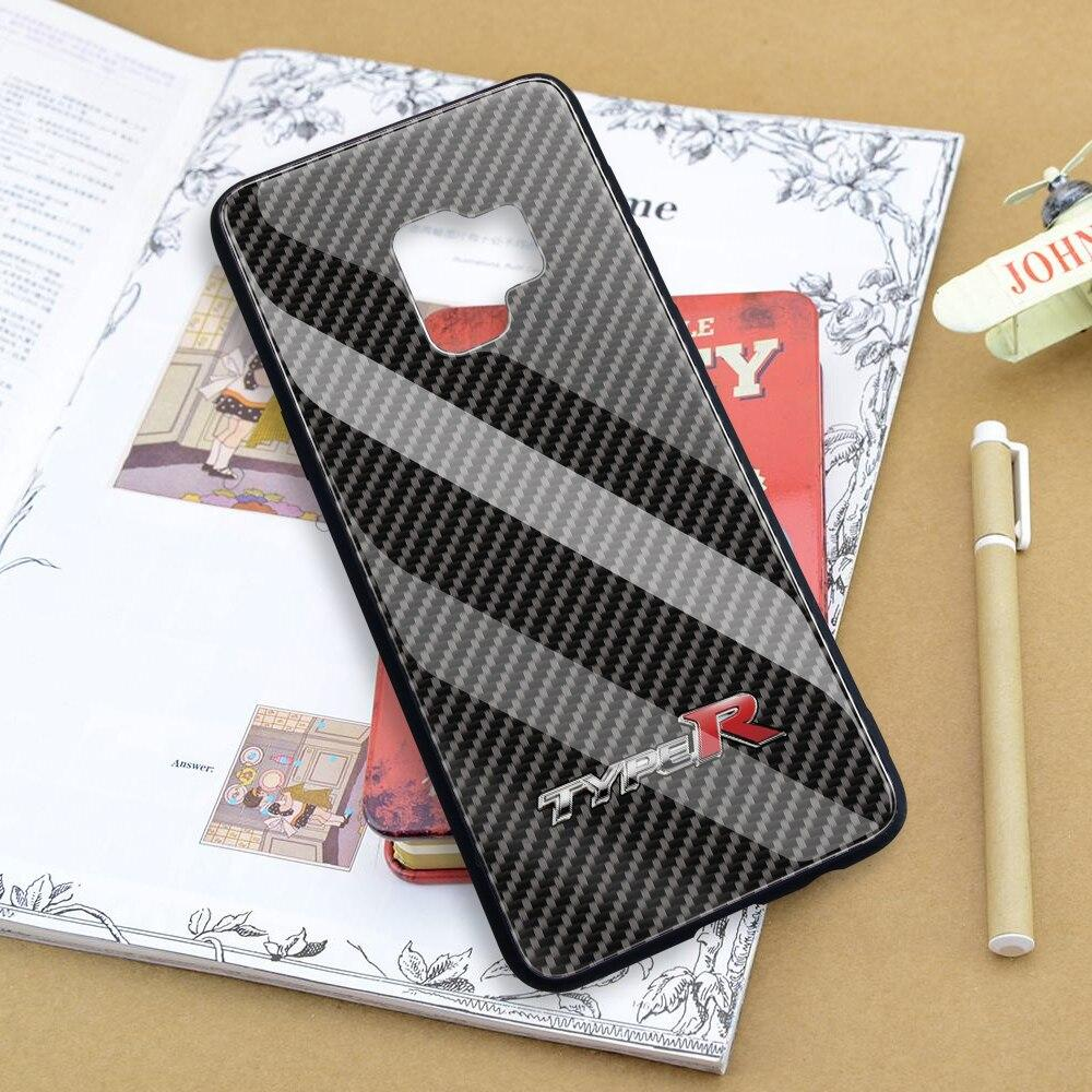 Broshop Phone Case Type R / Samsung Galaxy A10 A SERIES Samsung Tempered Glass Carbon Fiber Case
