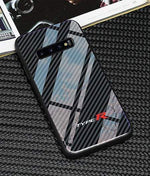 Broshop Phone Case Type R / Samsung Galaxy S8 Samsung Tempered Glass Carbon Fiber Case