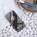 Broshop Phone Case VW / Iphone 6/6S Iphone Tempered Glass Case AUDI/BENTLEY/MASERATI