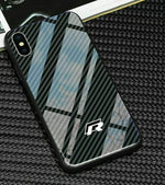 Broshop Phone Case VW R / Huawei Mate 20 Huawei Tempered Glass Carbon Fiber Case