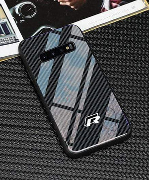 Broshop Phone Case VW R / Samsung Galaxy S8 Samsung Tempered Glass Carbon Fiber Case
