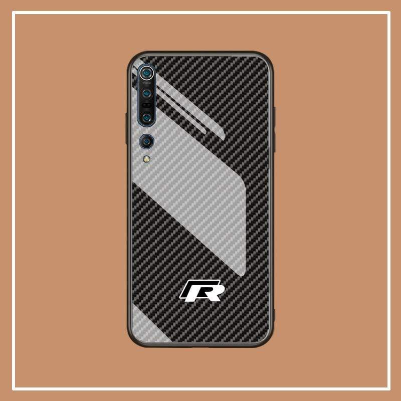 Broshop Phone Case VW R / Xiaomi 10 Xiaomi Tempered Glass Case AUDI/BENTLEY/MASERATI