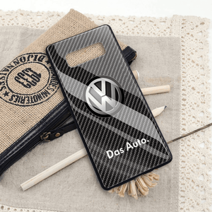 Broshop Phone Case VW / Samsung Galaxy S8 {NEW!} Samsung Tempered Glass Carbon Fiber Case