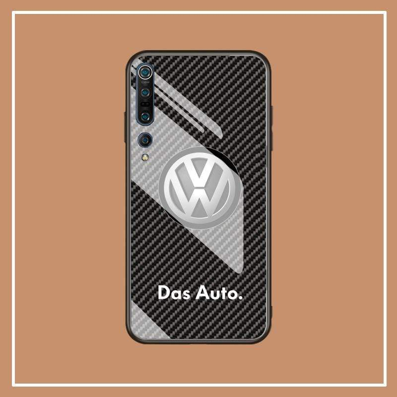 Broshop Phone Case VW / Xiaomi 10 Xiaomi Tempered Glass Case AUDI/BENTLEY/MASERATI