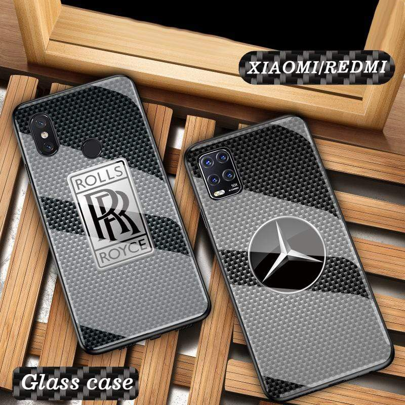 Broshop Phone Case Xiaomi Tempered Glass Case AUDI/BENTLEY/MASERATI