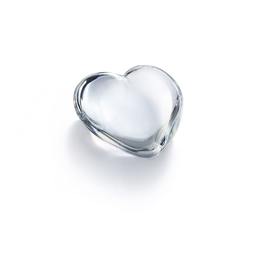 Baccarat Clear Cupid Heart