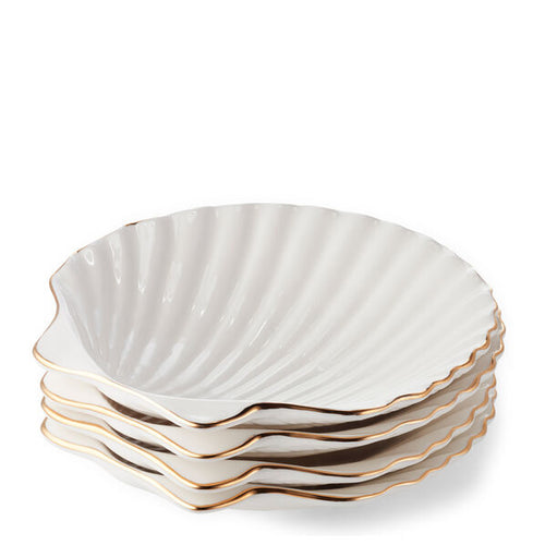 Aerin Shell Appetizer Plates Set of 4