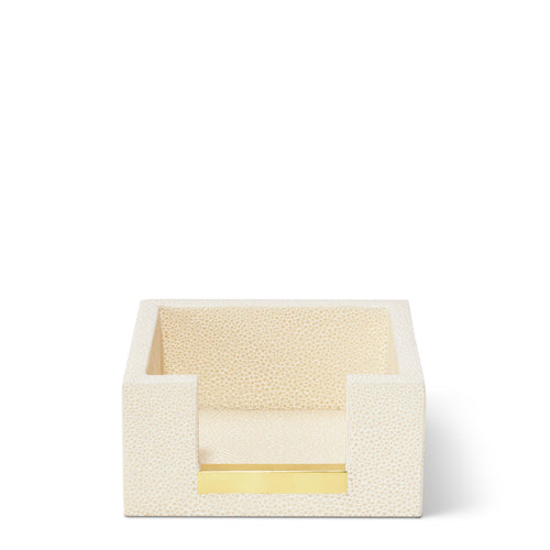 Embossed Shagreen Memo Paper Holder