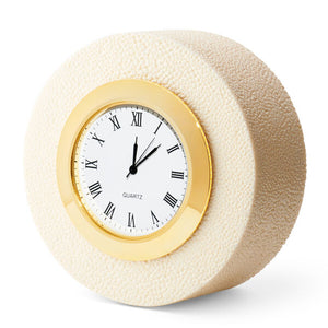 Aerin Shagreen Desk Clock