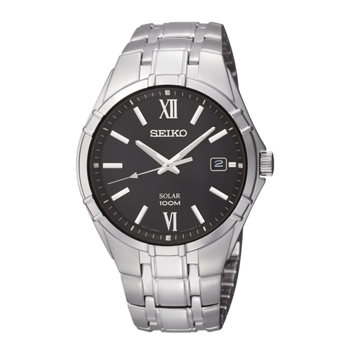 Seiko Men's Essentials with Black Dial SNE215