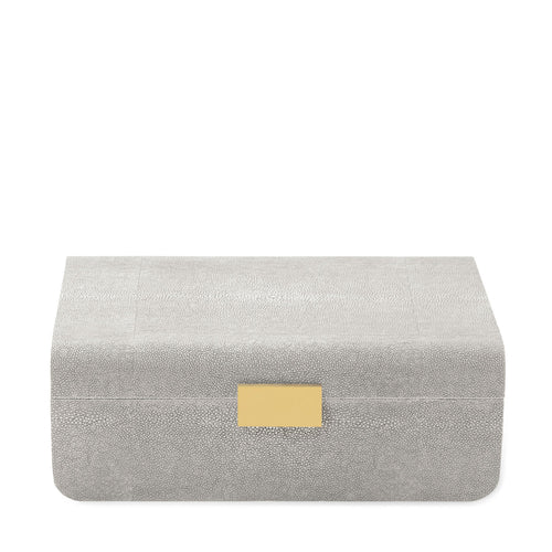 Embossed Shagreen Dove Jewelry Box