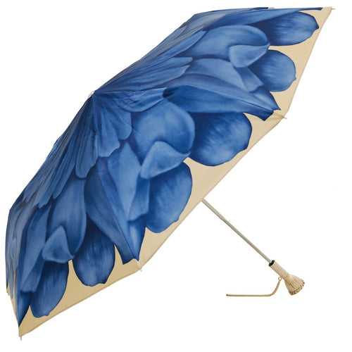 Blue Dahlia Folding Umbrella