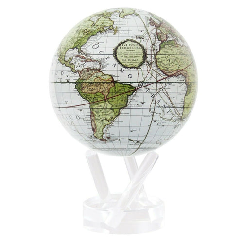 Antique White Terrestrial MOVA Rotation Globe