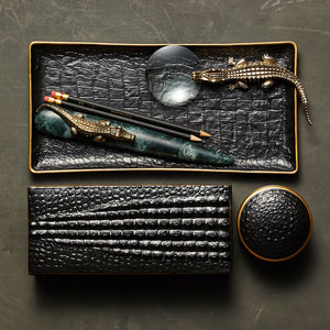 L'Objet Crocodile Medium Tray