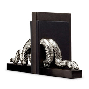 L'Objet Silver Snake Bookends Set of 2