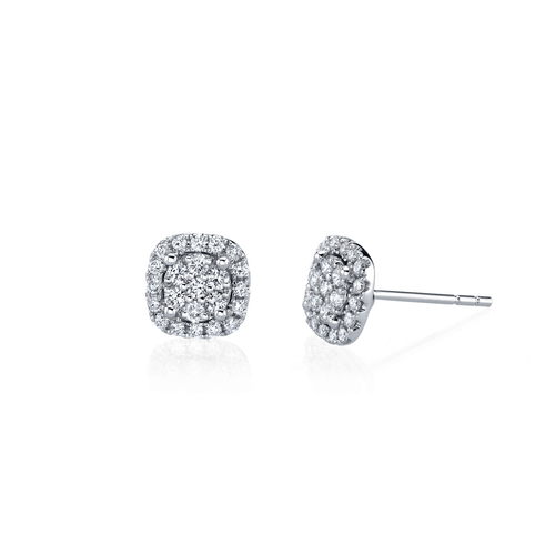 18k White Gold .45TW Diamond Studs
