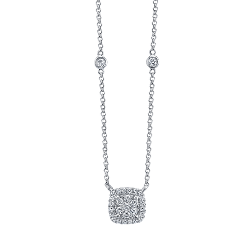 Classic 18k White Gold and .40TW Diamond Pendant