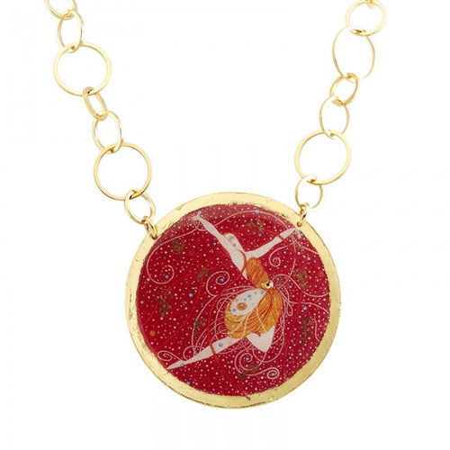Erté Pink Diamonds Necklace
