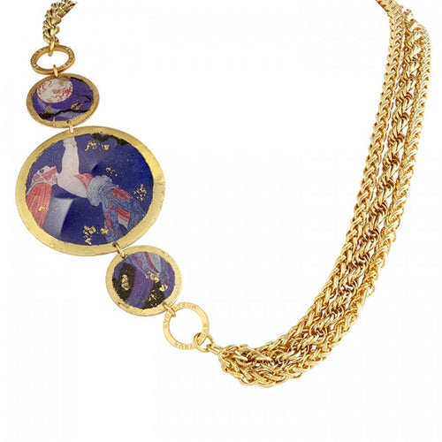 Erté Fireflies 3 Part Necklace
