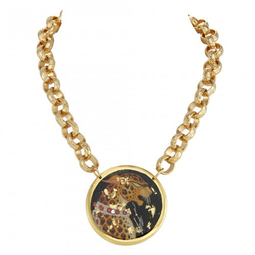 Erté Leopard Necklace