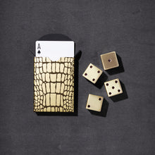 Load image into Gallery viewer, L'Objet Crocodile Box with Playing Cards