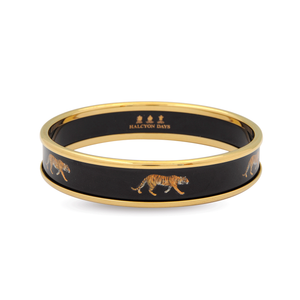 Halcyon Days Tiger Bangle Black