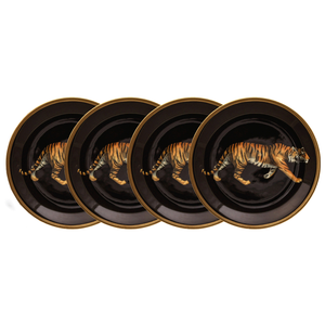 Halcyon Days Tiger Coaster Set of Four