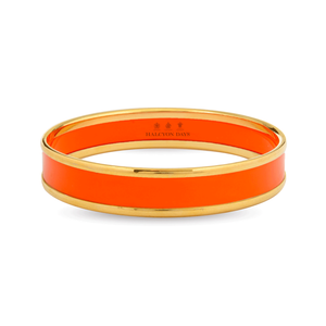 Halcyon Days Orange and Gold Bangle Bracelet