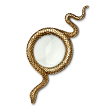 Load image into Gallery viewer, L'Objet Gold Snake Magnifying Glass