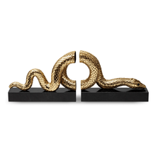 Load image into Gallery viewer, L'Objet Gold Snake Bookends Set of 2