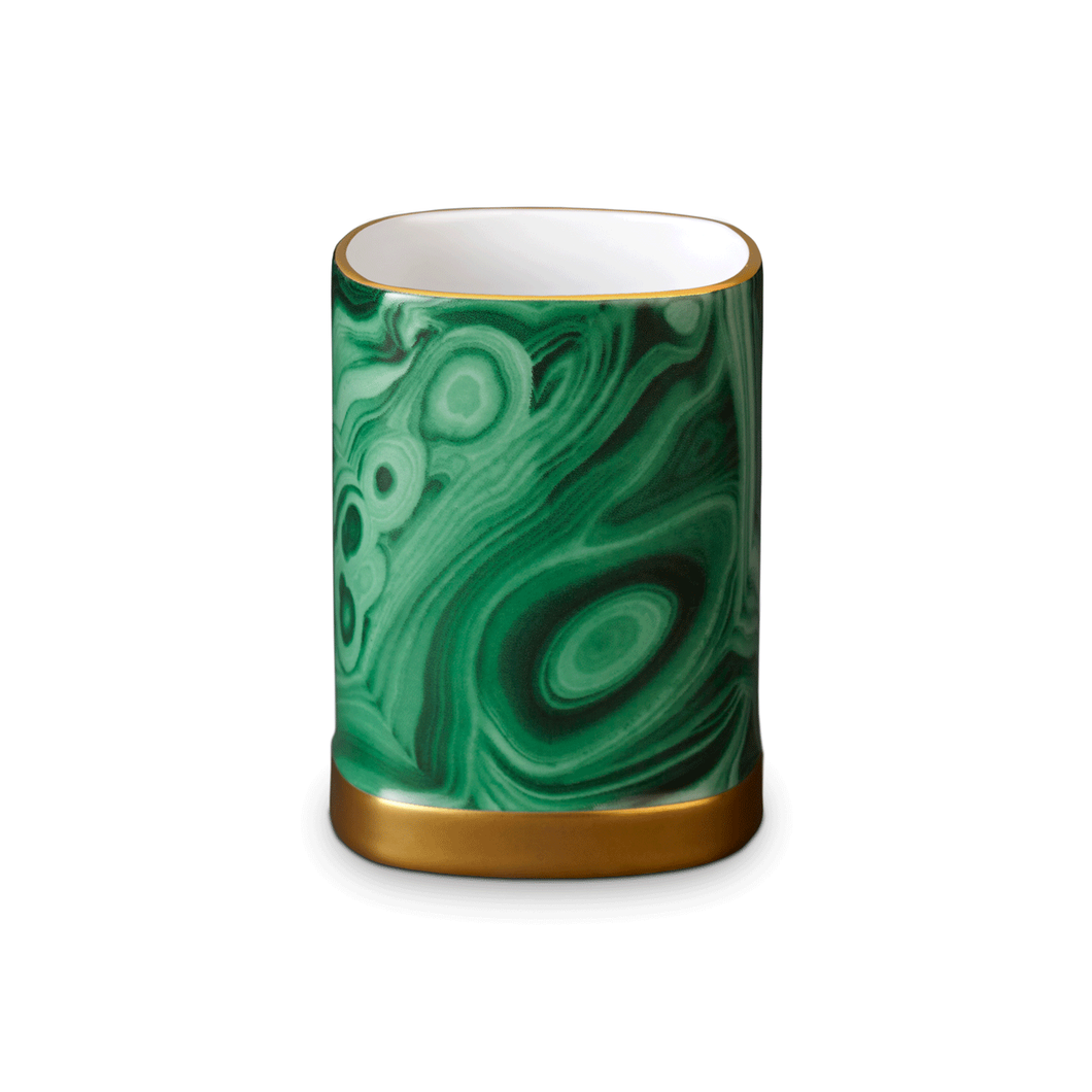 L'Objet Malachite Pencil Cup