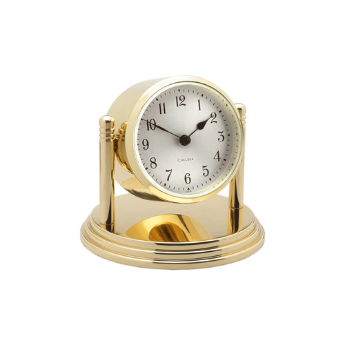 Chelsea Dartmouth Brass Clock