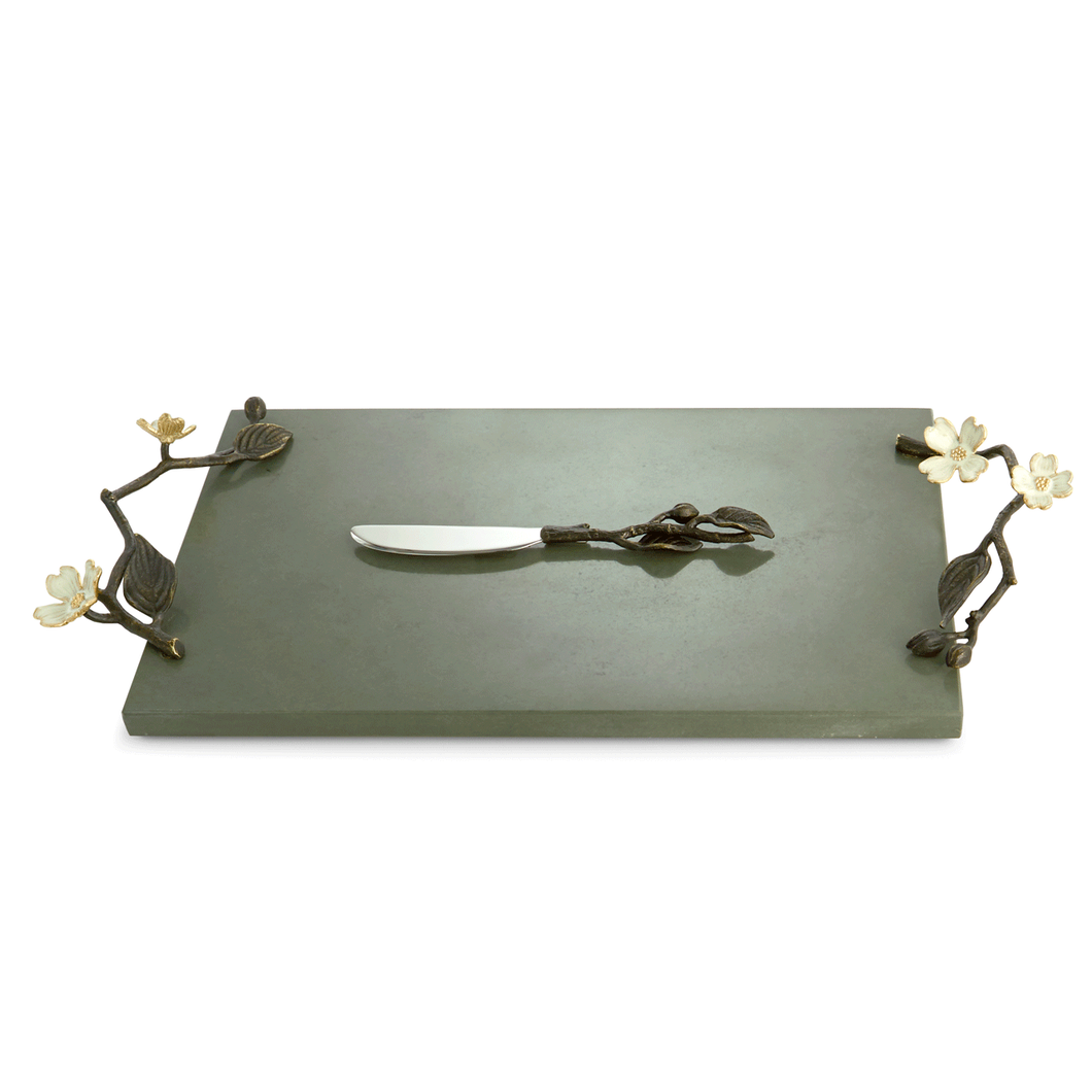 Michael Aram Dogwood Cheese Board with Knife