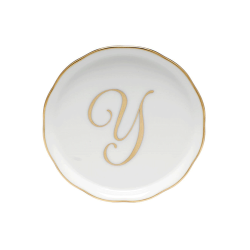 Herend Monogram Coaster Set of 2
