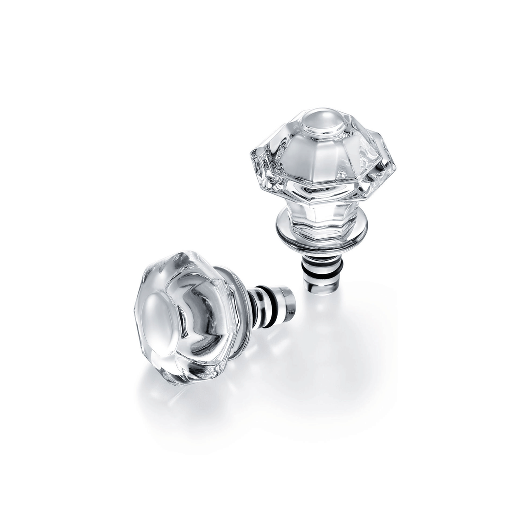 Baccarat Tip Top Bottle Stoppers Set of Two
