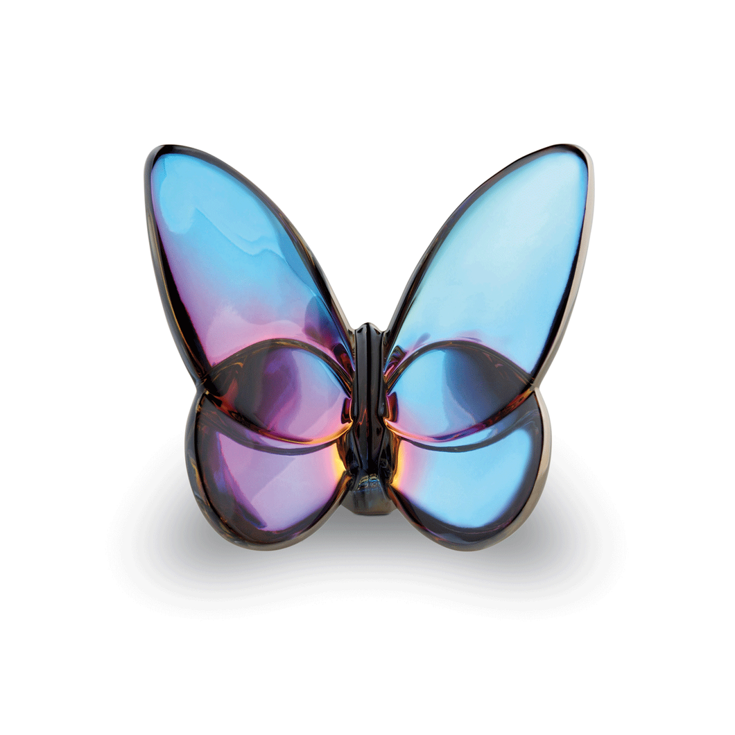 Baccarat Papillon Luck Butterfly Blue Scarabee