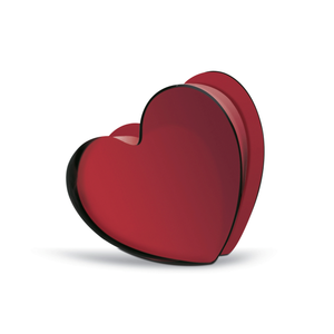 Baccarat Red Zinzin Heart
