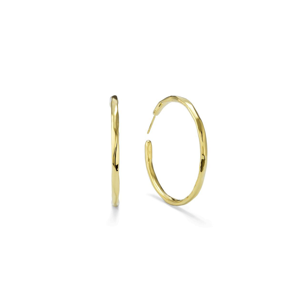 Ippolita 18k Gold #3 Hoop Earrings