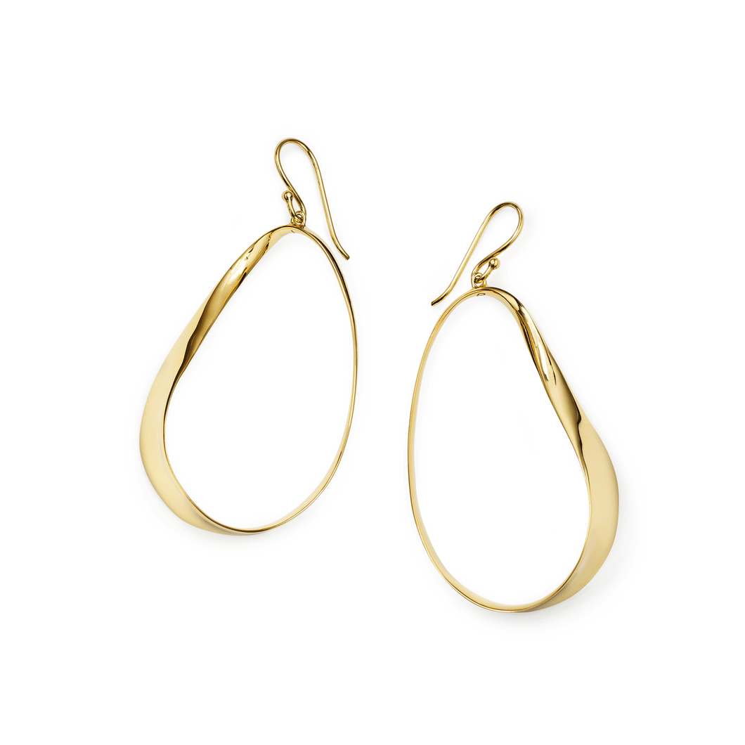 Ippolita 18k Gold Ribbon Earrings