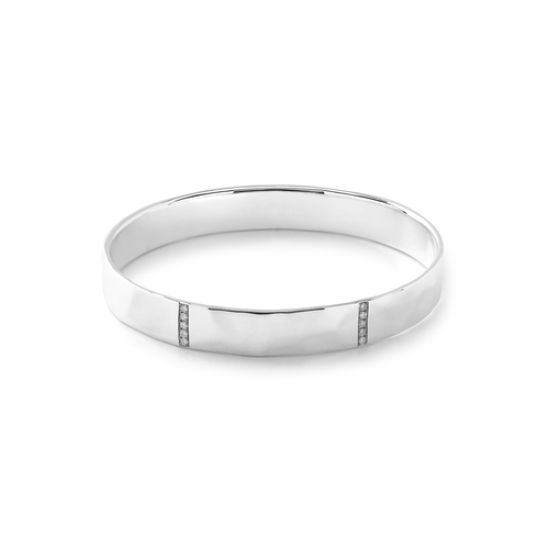 Ippolita Stardust Sterling Silver and Diamond Bangle