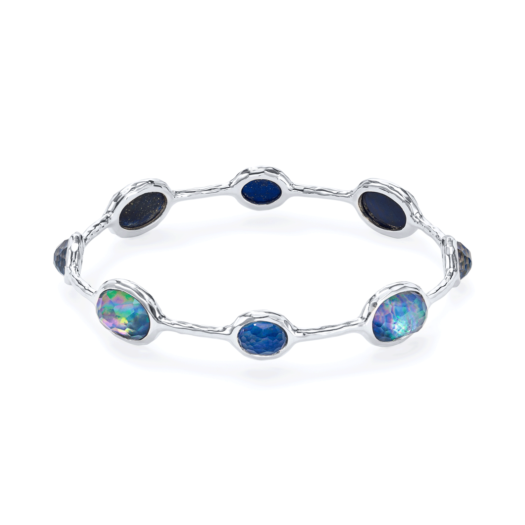 Ippolita Rock Candy Sterling Silver and Lapis Bangle