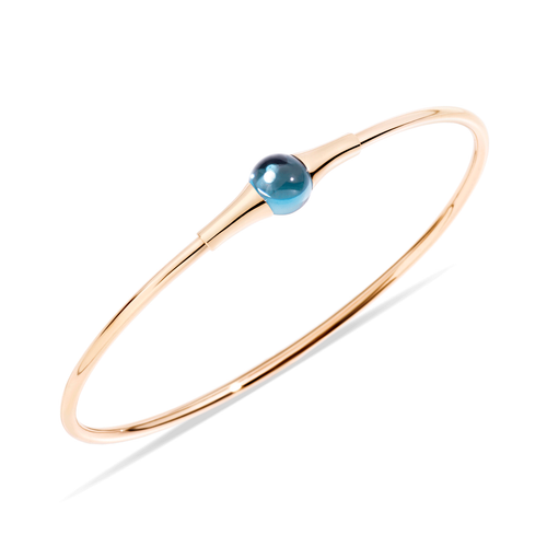 Pomellato 18k Gold and Blue Topa M'ama Non M'ama Bangle